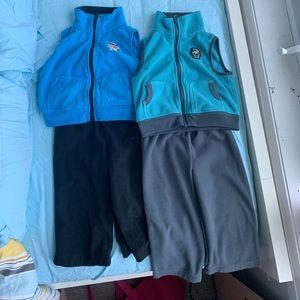 2X Fleece sets - Carter's size 18m